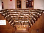 Antique perfumer's organ in the Fragonard Perfume Museum, Paris